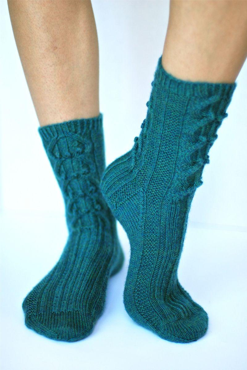 Bobble & Cable Sock Vogue