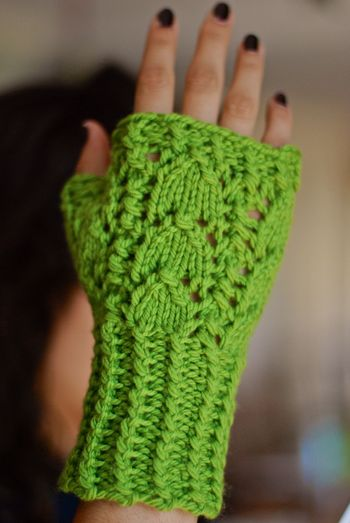 Snow Drop & Snap Pea Mitt