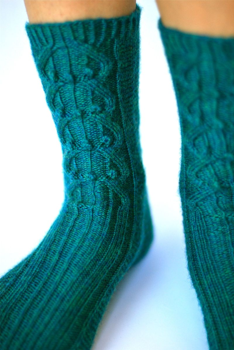 Bobble & Cable Sock 1