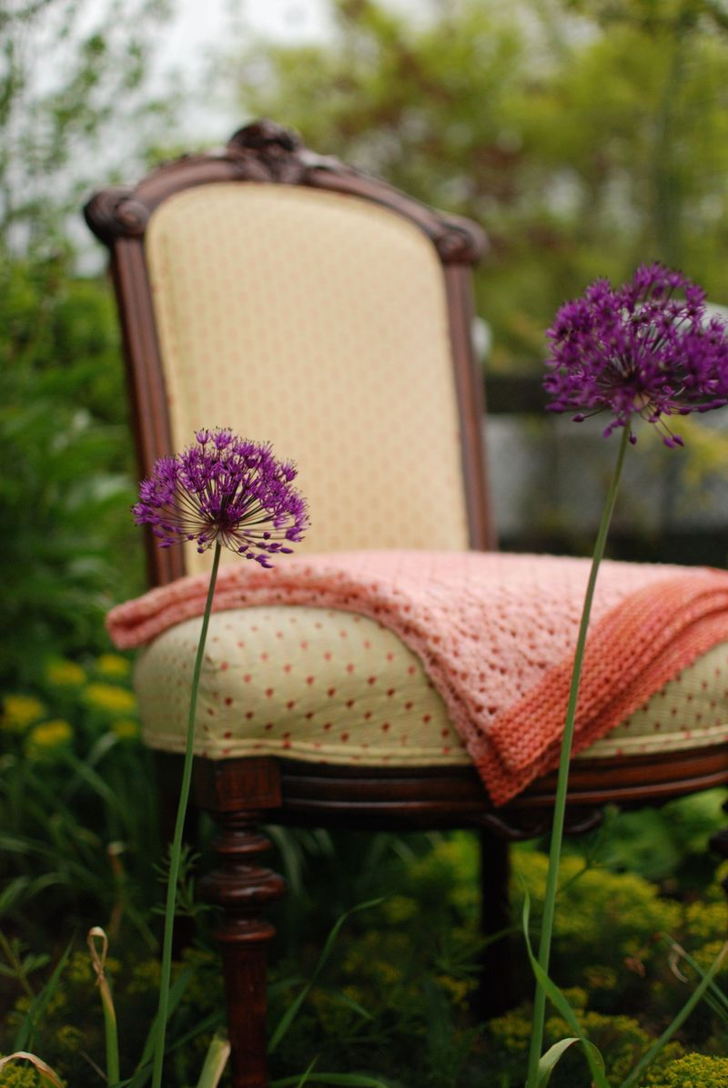 Abby's Blanket with Alliums